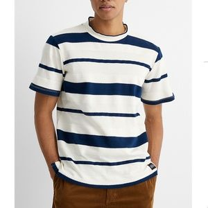 Native youth textured-strip t-shirt NWT